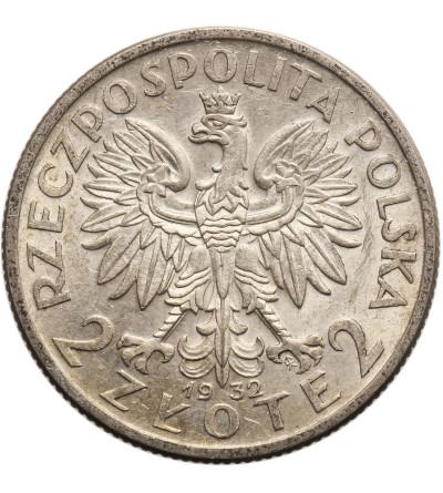 Poland 2 Zlote 1932, Warsaw, woman's head