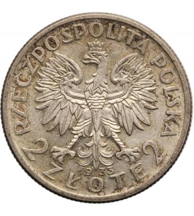 Polska 2 złote 1933, Warszawa, głowa kobiety