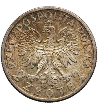 Polska 2 złote 1934, Warszawa, głowa kobiety