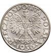 Polska 2 złote 1936, żaglowiec
