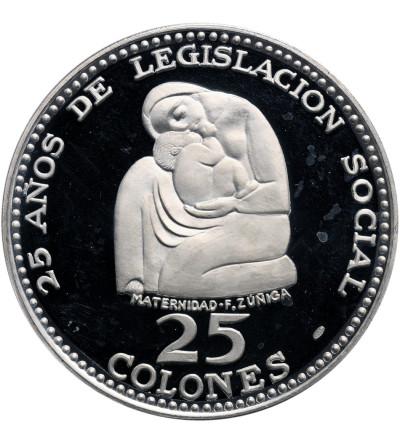 Kostaryka 25 Colones 1970, 25-lecie ustanowienia przywilejów socjalnych