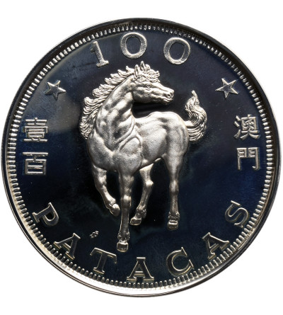 Macau 100 Patacas 1990, Year of the Horse - Proof