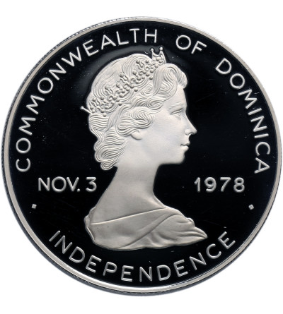 Dominica 10 Dollars 1978, John Paul II - Proof