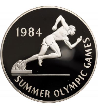 Jamajka 25 dolarów 1984, Igrzyska Olimpijskie - biegi (4,04 Oz czystego srebra)