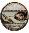 Wyspy Cooka 20 dolarów 2008, Michelangelo, Stworzenie Adama - Proof
