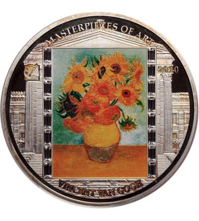 Wyspy Cooka 20 dolarów 2010, Michelangelo, Vincent van Gogh, Słoneczniki - Proof