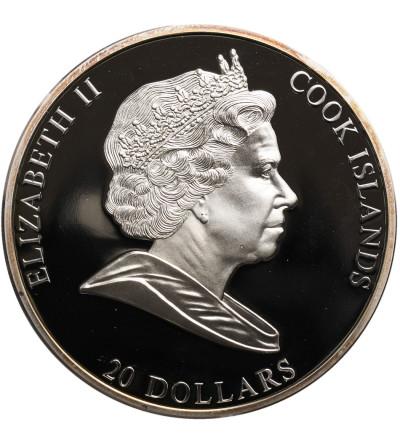 Wyspy Cooka 20 dolarów 2009, Raffaello Sanzio, Sistine Madonna - Proof