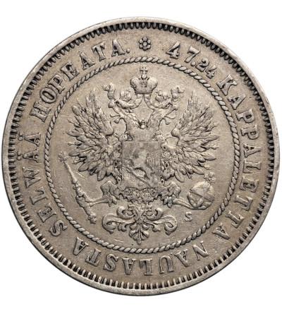 Finland, russian occupation, 2 Markkaa 1874 S