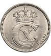 Denmark 25 Ore 1921 HCN GJ