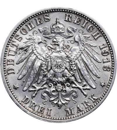 Germany - Saxony 3 Mark 1913, Battle of Leipzig Centennial