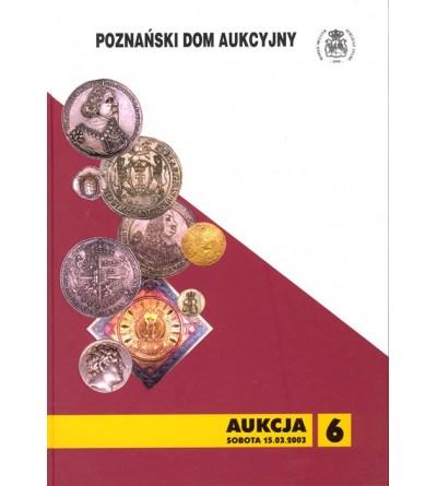 Katalog aukcyjny PDA&PGN Aukcja nr 6 - 15.03.2003 r.
