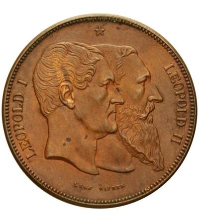 Belgia 5 franków medalowe 1880 - odbitka w brązie (10 centimes)