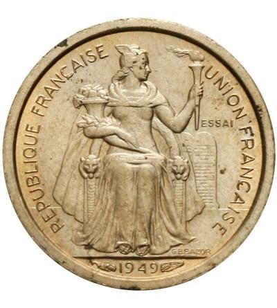 Francuska Nowa Kaledonia 50 centimes 1949 - Essai