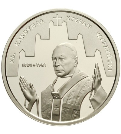 10 złotych 2001 - Kardynał Stefan Wyszyński