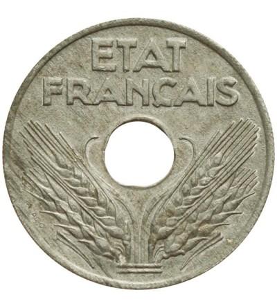 Francja 20 centimes 1943