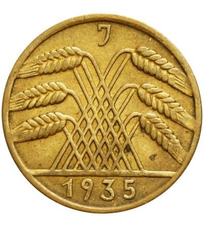 Weimar 10 Reichspfennig 1935 J