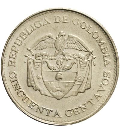 Kolumbia 50 centavos 1966