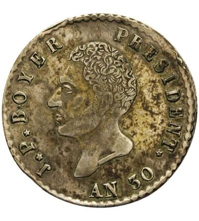 Haiti 100 centimes AN 30 ( 1833 )